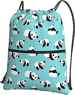الرباط حقائب الرياضة سحاب حقيبة الصالة الرياضية للماء للنساء الرجال الرسم سلسلة الظهر شاطئ السفر حقيبة