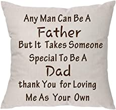 Any Man Can Be a Father But It Takes Someone Special to Be a Dad Father's Day Linen Throw Pillow Case Cushion Cover Pillow Covers for Sofa Home Decor