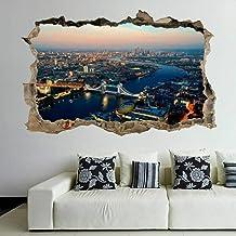 Tatuaje de pared en 151D Paisaje londres agujero de la pared Sticker Pegatina Adhesivo Calcomanía Decoración para dormitor...