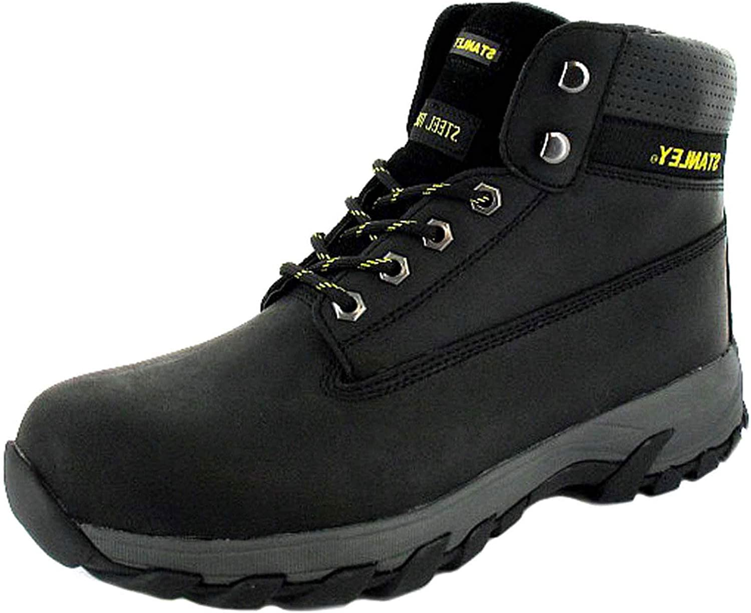 Stanley Hartford Mens Nubuck Leather Material Safety Boots Black