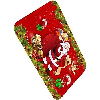 Fangfeen Navidad con Temas de Interior de la Puerta del cojín del pie Mat Anti Slip Baño Alfombras Cocina Pasillo WC Alfombras Antideslizantes