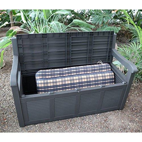 2- Sitzer Gartenbank mit Aufbewahrungsbox Truhe Kissen Auflagen Garten Terrasse - 6