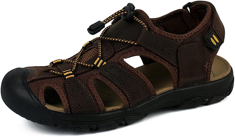 Mannar från 65533;65533;s 65533;65533;s 65533;65533;s Hiking Sandals läder sommar strand skor for Casual bspringaaa Khaki utomhus Sports gående  Treking Sandals Closed -Toe stor Storlek  välj från de senaste varumärkena som