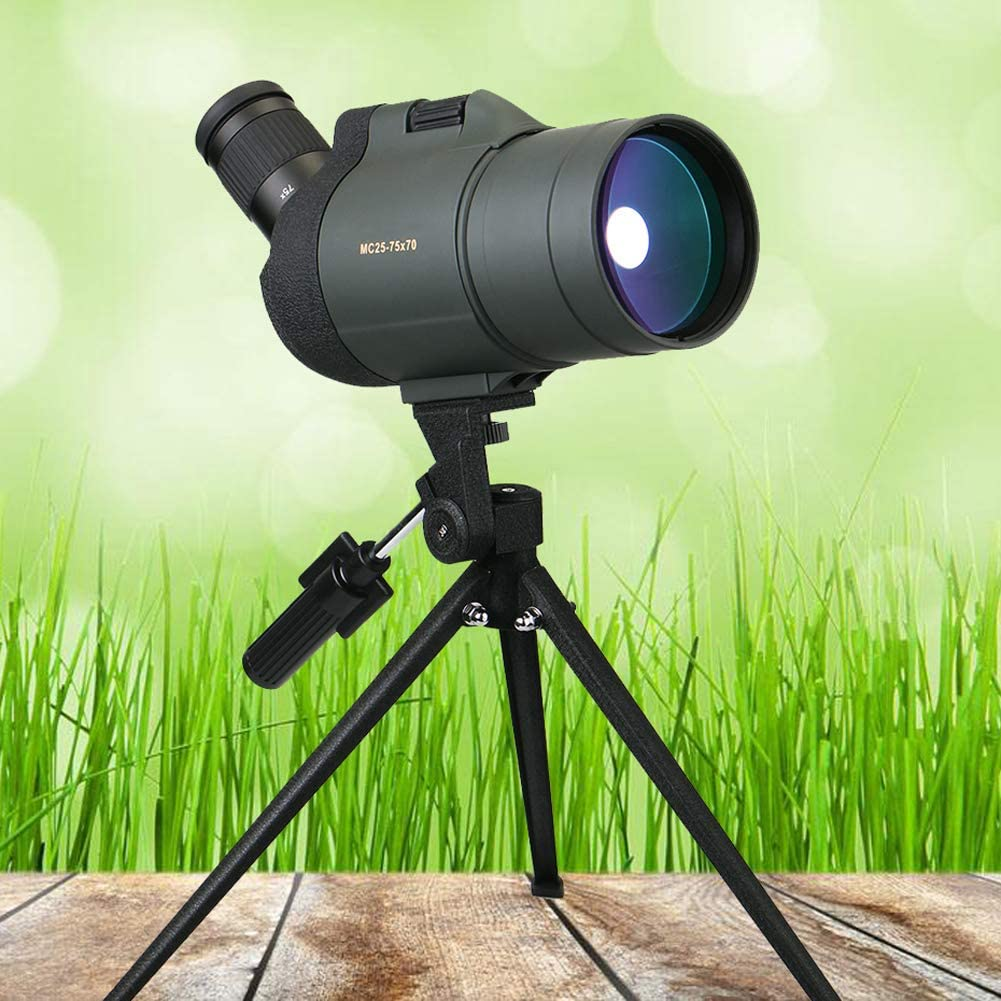 IOIOA 25-75X70 Spotting Scope At the price of surprise Max 82% OFF Monocular Zoo Telescope Refraction