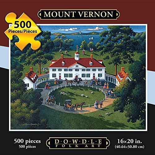 costo real Jigsaw Puzzle - Mount Vernon 500 Pc By Dowdle Folk Folk Folk Art by Dowdle Folk Art