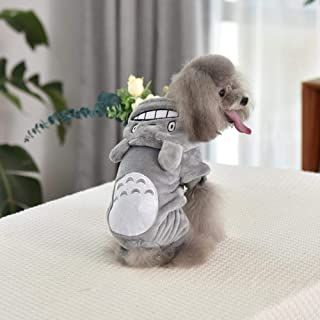 Home bathroom products Pet Clothes, Four feet, Autumn and Winter, Small Dog, Teddy, Panda, Puppy, cat, Winter Clothes, Dog Supplies, Gray Chinchilla Quadruped Coralline Velvet, S (About 3-5 kg)