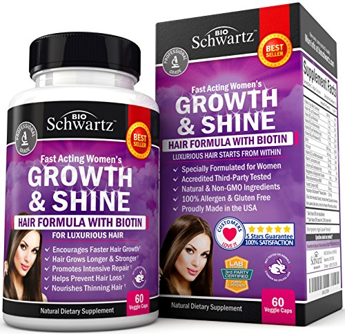 Growth & Shine. Hair Formula with Biotin