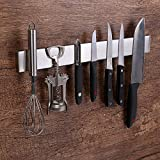 Magnética para cuchillos 40cm barra magnética para cuchillos el soporte magnético de cuchillos soporte para cuchillos sujeción ultra fuerte y fácil montaje(16 inches)