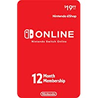 Nintendo Switch Online 12 Month Individual Membership [Digital Code]