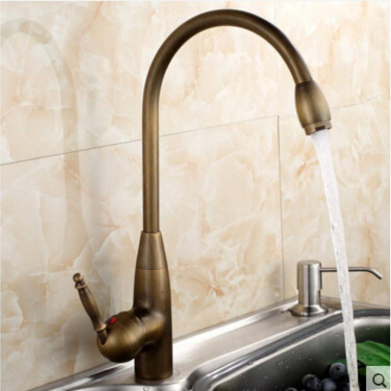 SUHANG Faucet Kitchen Faucet Antique Bronze Brass hot and Cold Kitchen Mixer Sink Mixer tap Sink Faucet