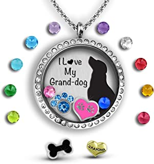 for a Dog Lovers | Dog Mom Gifts Dog Lover Gifts for Women for Dog Mom Dog Jewelry for Women Gifts for Dog Lovers | Floating Charm Necklace for Dog Grandma