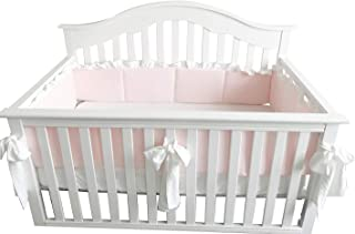 blush crib bumper
