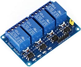 Lystin 4 Channel DC 5V DC 230V Relay Module Control Board with Optocoupler for Arduino UNO R3 MEGA 2560 1280 DSP ARM PIC AVR TTL Logic STM32 Raspberry Pi