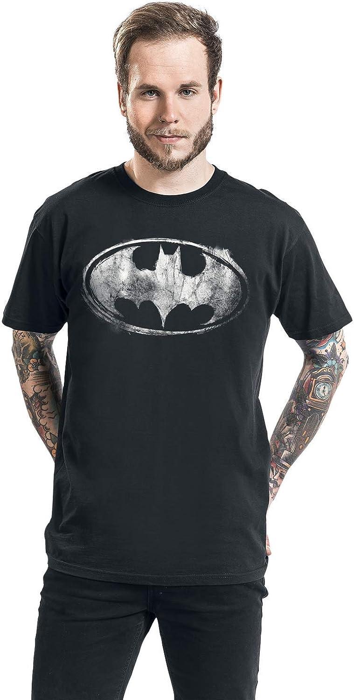 Superhelden Batman Smudge Logo M/änner T-Shirt schwarz DC Comics Film TV-Serien Fan-Merch