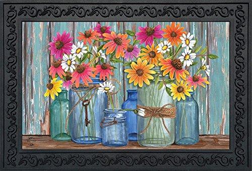 "Briarwood Lane Farm Fresh Flowers Spring Doormat Indoor Outdoor 18"" x 30"""
