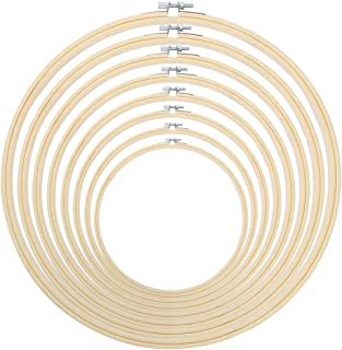 Caydo 8 Pieces 8 Size Embroidery Hoops Set Adjustable 3 inch to 12 inch for Art Craft Handy Sewing