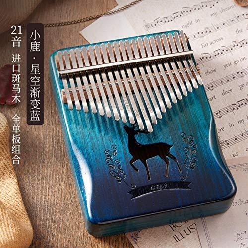 SYXMSM 21-Ton Daumenklavier Kalimba Finger Klavier for Anfänger Kalimba Finger Klavier Finger Klavier Kalimba (Color : E)