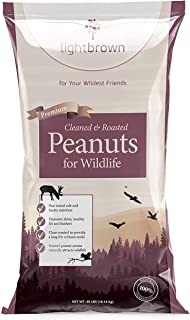 Lightbrown Premium Cleaned & Roasted Peanuts for Birds and Wildlife. No Mess Wholesome Nuts. The Best Bird Seed for Wild B...