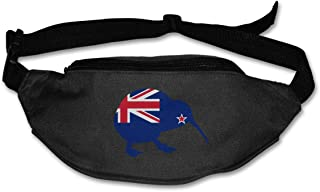TAOHJS76 Men's and Women's Belt Bag Fit All Phone Models and Fit All Waist Sizes New Zealand Flag Kiwi Best for Running, Workouts, Cycling, Travelling