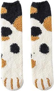 LUNULE, Calcetines Termicos Mujer Invierno Divertidos Calcetines de Algodón De Engrosamiento Coralino Encantador De Moda Para Mujer Lindos Estampados Ocasionales de Algodón para Niña y Mujer