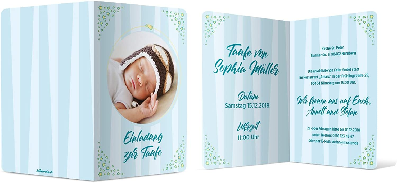 60 x x x Taufe Einladungskarten Taufkarte individuelle Taufeinladung - Nachtstern B07C3R6GLC | Bekannt für seine hervorragende Qualität  bb9464