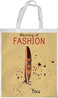 Meaning of Fashion Printed Shopping bag, Small Size