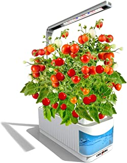 Indoor Hydroponic Herb Garden Kit, Hydroponics Growing System Herb Garden Light for Tomatoes Plants, 360 Degree Adjustable Arm, Low Water Alarm, Reading Mode - Seeds Not Included - Christmas Gift