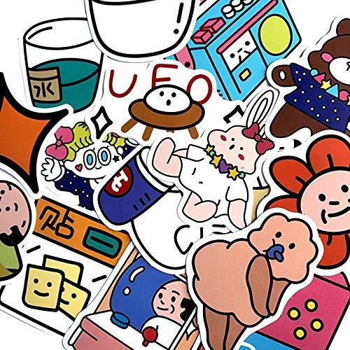 FSVGC Oxygen Old Man Cartoon Ins Style Aufkleber für Snowboard, Laptop, Gepäck, Wagen Kühlschrank, DIY Style Vinyl 15 Stück pro Packung