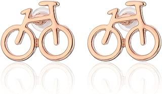 Stud Earring for Women,Bicycle Earring Stud Girl Silver Dangle Earring Small Stainless Steel Earring