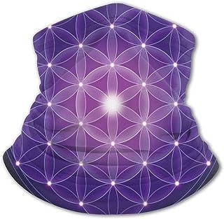 Verctor Pañuelo para la Cara de los niños Flor de la Vida Azul Oscuro con símbolo de Estrellas Geometría Sagrada Impresión...