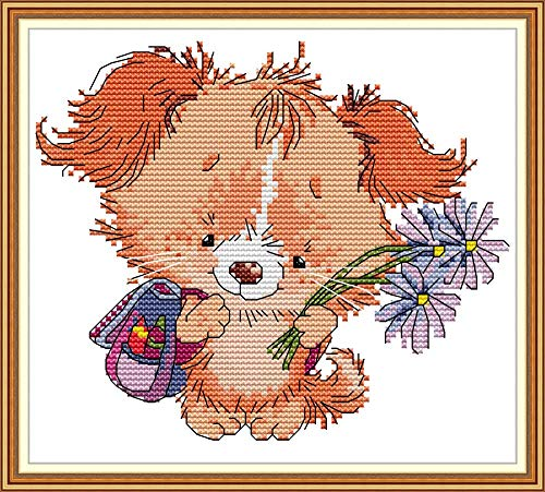 Maydear Cross Stitch Kits Stamped Full Range of Embroidery Starter Kits for...