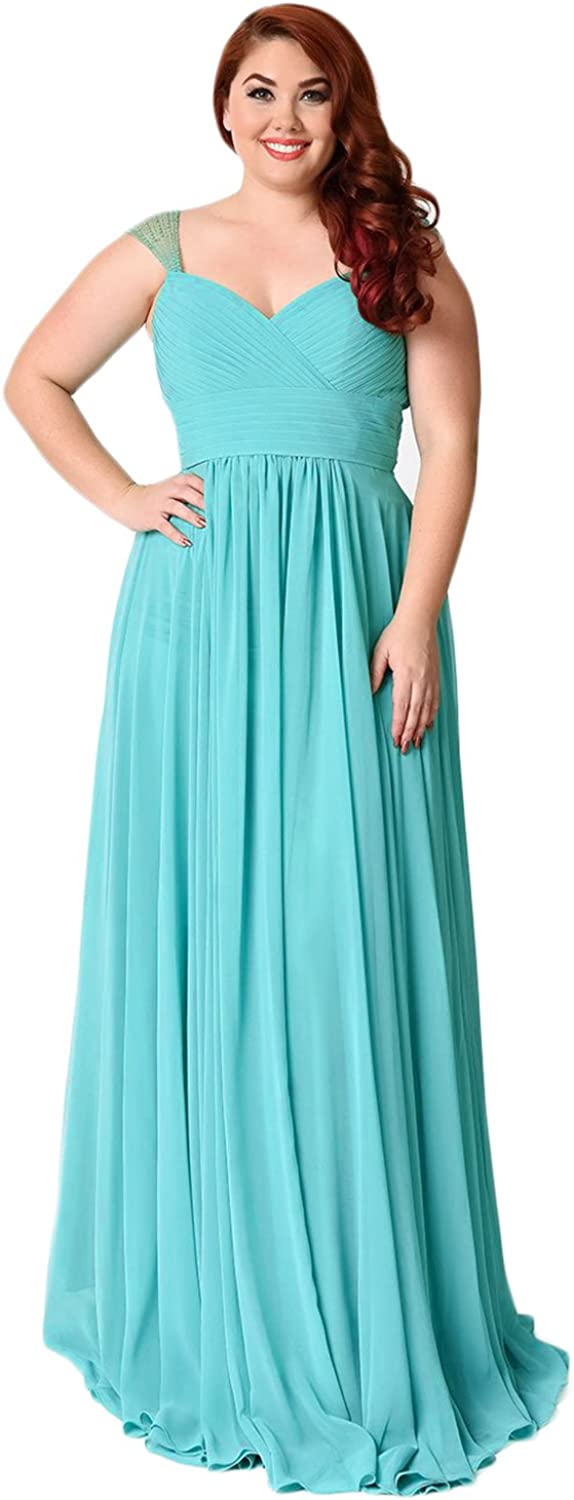 YIRENWANSHA 2018 Plus Size Cap Sleeve Full Length Prom Party Dress Pleated Evening Gown YD78