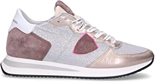 Philippe Model Luxury Fashion Womens TZLDGP01 Silver Sneakers | Fall Winter 19