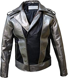 X-Men 4 Quicksilver Peter Maximoff Silver and Black Leather Jacket
