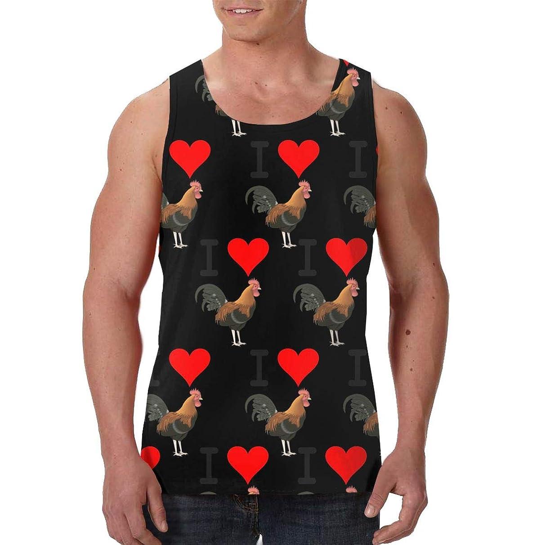 Mens I Love Cock 3D Printed Sleeveless Tank Top/Tops Sport Gym Vest Shirt