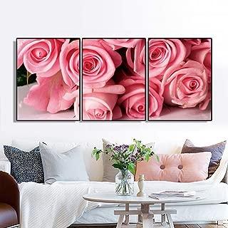 GHTAWXJ 3 Paneles Pintura de la Lona Carteles e Impresiones de Flores Rose Wall Art Pictures para la decoración del hogar de la Sala de Estar