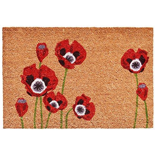Home & More 104032436 Red Poppies Doormat, 24
