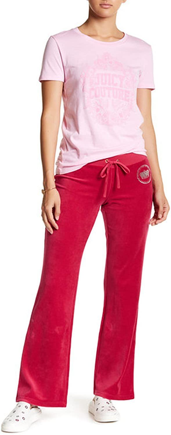 Juicy Couture Velour Sertified Sangria Del Rey Track Pants S