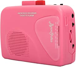Byron Statics Walkman Cassette Player Portable Cassette Players Recorders Am FM Radio Lightweight Built-in Speaker USB Power Supply or 2 AA Batteries Automatic Stop System Protect Cassette Tape, Pink
