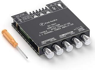 Fosi Audio ZK-TB21 Bluetooth 5.0 Stereo Audio Receiver Amplifier Board 2.1Channel Mini Wireless Digital AUX Amp Module Bas...