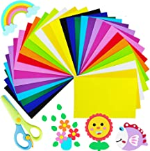 30 Sheets Colorful EVA Foam Sheets Craft Foam Sheets Assorted Colorful,Rainbow Colors Foam Handicraft Sheets with 1 pcs Ch...