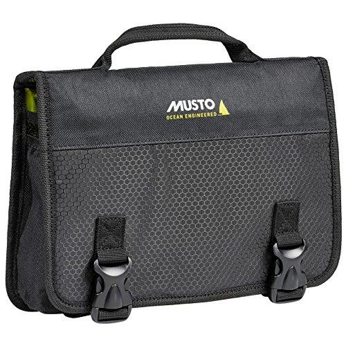 Musto Essential Washbag Black AUBL223 - Easy Stretch Lightweight - Strapazierfähiger, Leichter Waben-Ripstop-Stoff