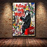 Wfmhra Traum Graffiti Leinwand Poster AFFE Gorilla Tier