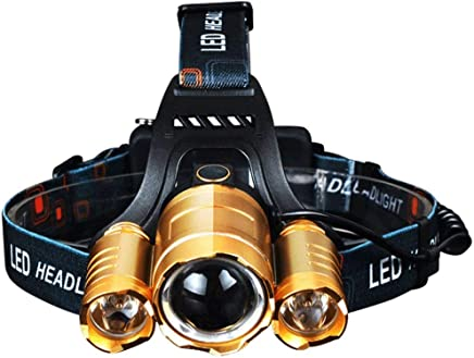 ZLHW Light Thermo Long-Range Outdoor Led Fishing Adventure Searchlight Head-Mounted Miner's Lamp