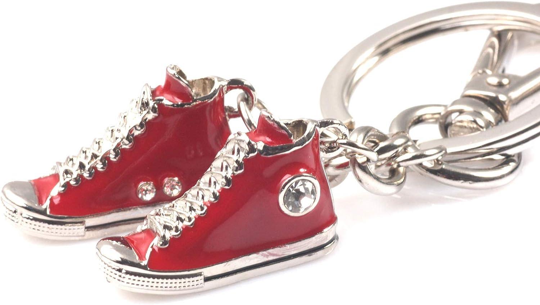 maycom Fashion Romantic Crystal Glaze Casual Shoes Keychain Key Chain Ring Keyring Keyfob 86144