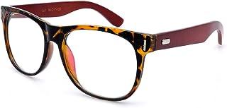 AMILLET Unisex Oversized Optical Eyewear Non prescription Eyeglasses Frame Clear lens Glasses Women Men