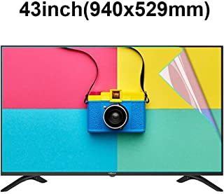 KUYUC Screen Protector for 43 Inches TV, Anti Blue Light Anti Blue Light Screen Filter, LED TV Screen Protector Anti-Glare Anti-Scratch, Eye Protection LCD Filter Film (Color : A)