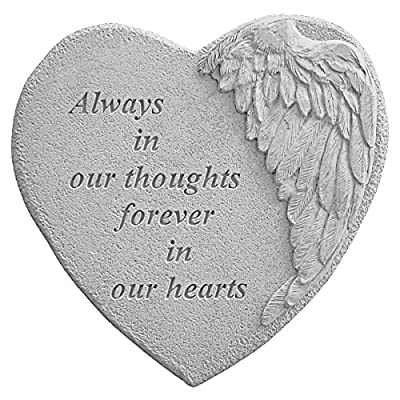 Kay Berry 8905 Winged Heart Always in Our Thoughts… Decorative Stone, Multicolor