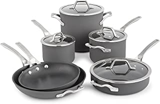Calphalon Signature 10 Piece Set|Hard Anodized Nonstick Pots, Black