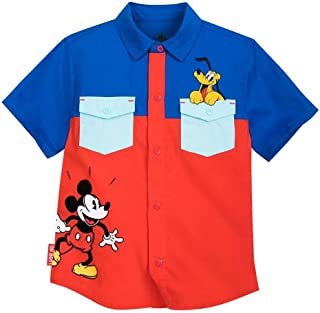 Disney Mickey Mouse and Pluto Woven Shirt for Boys